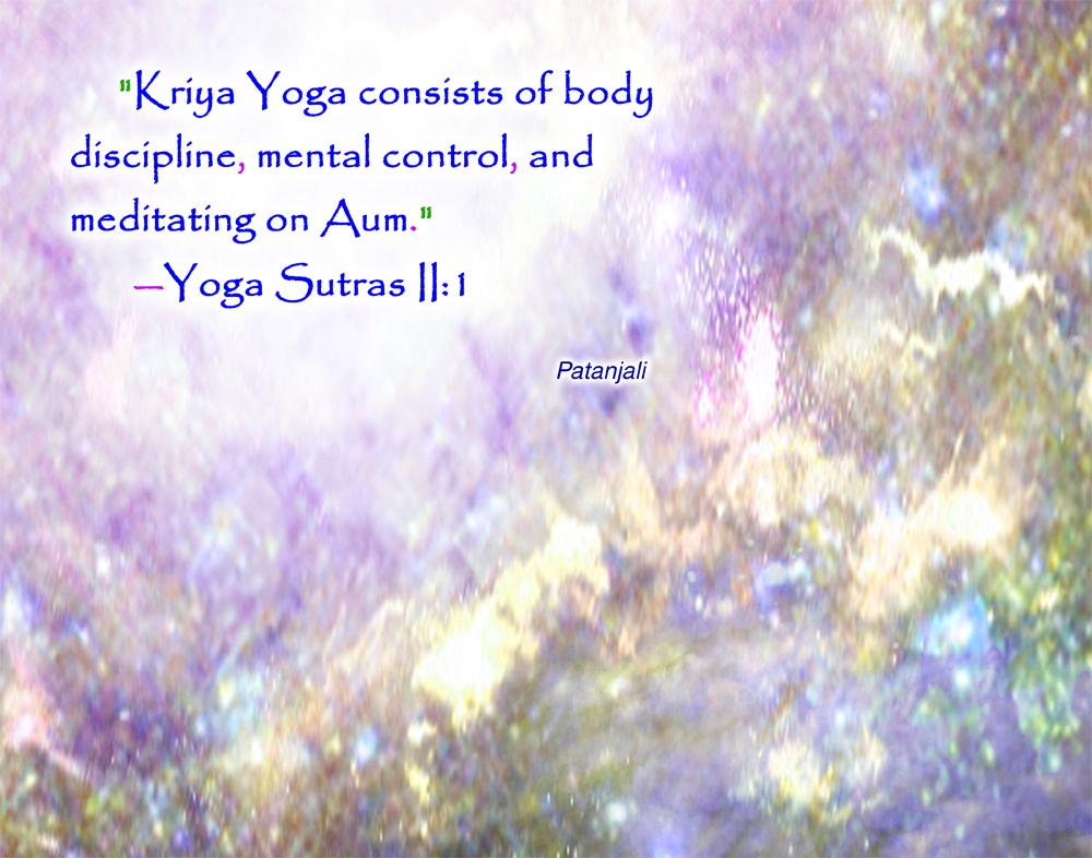 PQ01 Patanjali Kriya Yoga Quote Wallpaper