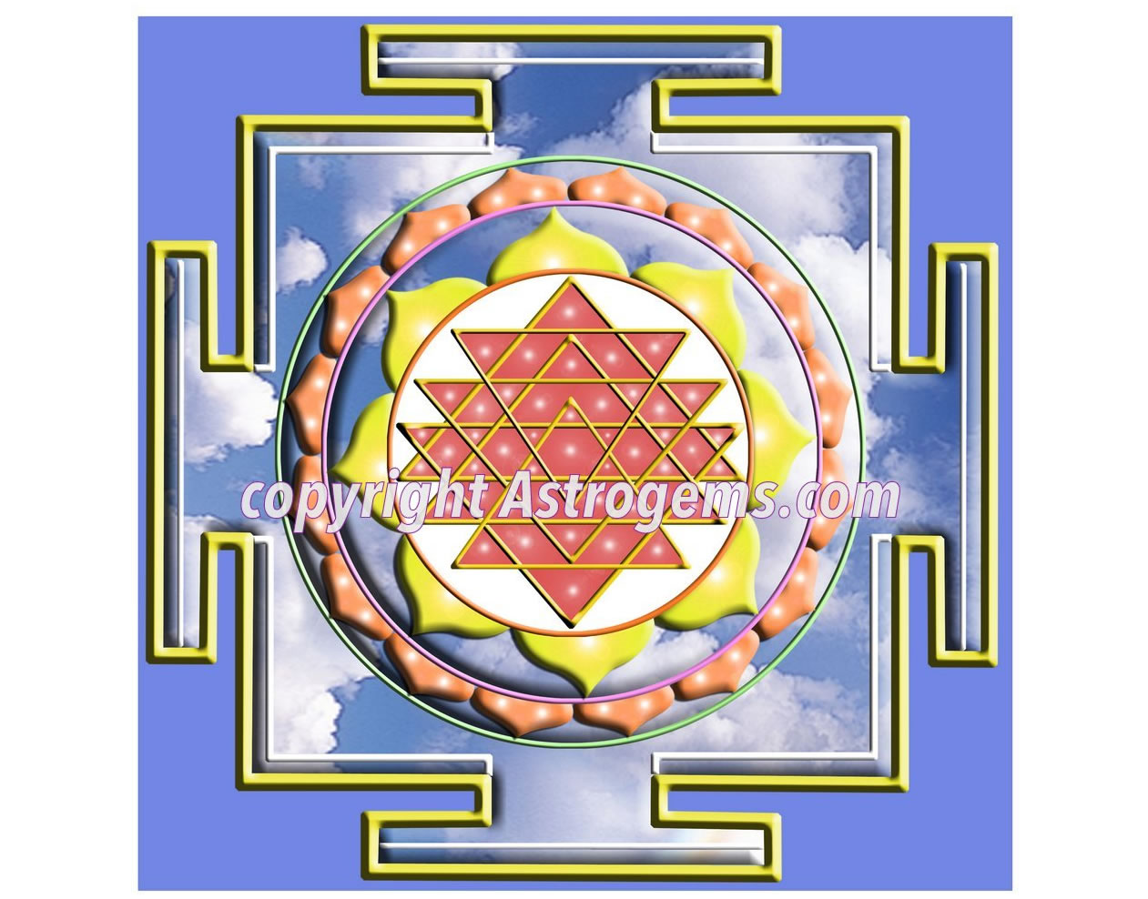 Cloud Shree Yantra