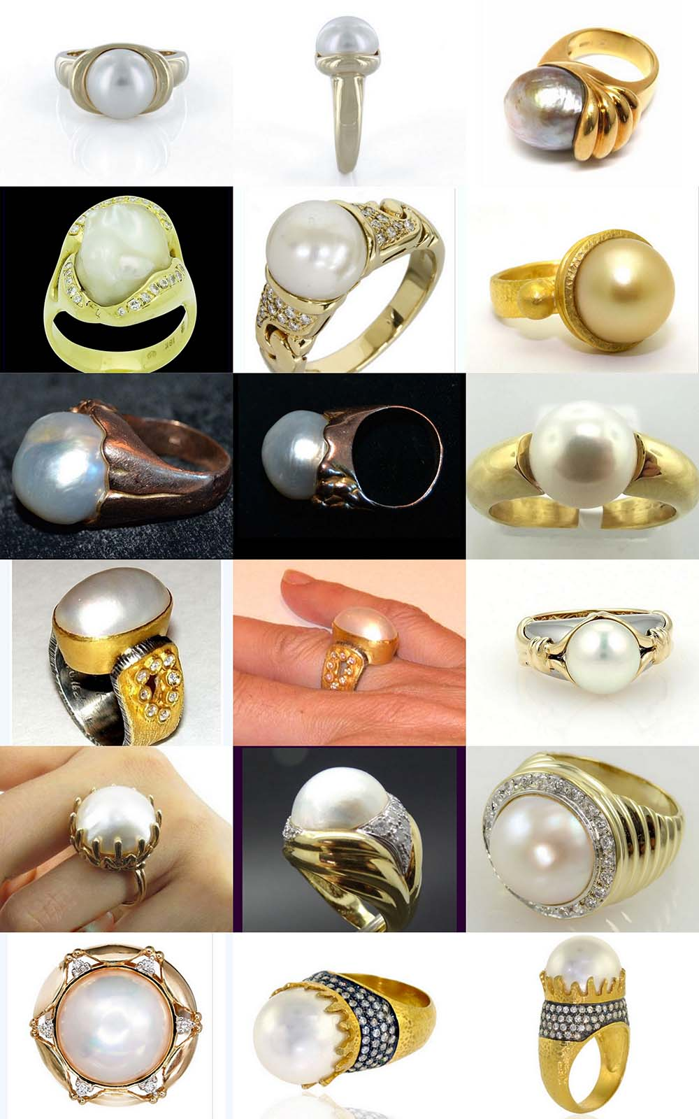 pearl gold ring astrology
